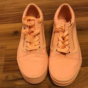 Girls Peach like color Vans